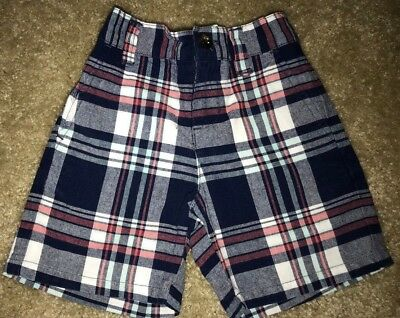 Janie And Jack Plaid Baby Boy Shorts 6 - 12 Months