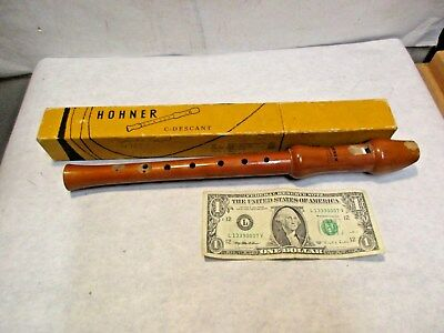 vintage Hohner C-Descant Educator with Box that is in good used shape - NR