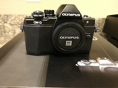 Olympus OM-D E-M10 Mark II 16MP Digital Camera - Black (Body Only) And recharger