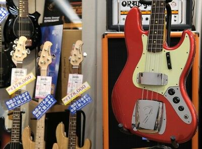 Fender CS: 1964 Jazz Bass Journeyman Relic Candy Apple Red NEW