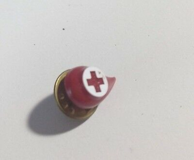 Vintage Red Cross Blood Drop Donor Pin