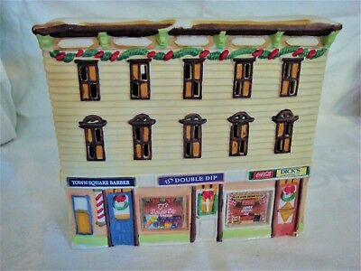 1992 Coca Cola TIME SQUARE 4 Building LOT and Accessories - 10 Items total