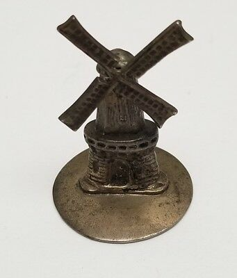 Vintage Denmark SXZ Sterling Silver Miniature Rotating Windmill Collectible