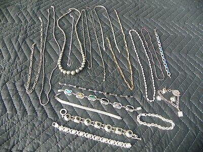 Lot of Sterling .925 Silver Jewelry for scrap or wear  244 grams