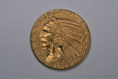 1914-D Indian Head $5 Dollar Half Eagle Gold Coin LOOK No Reserve GOLD | 0867