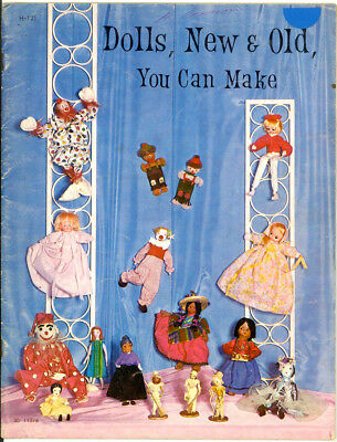 VINTAGE 1967 CRAFT BOOK - DOLLS, NEW & OLD, YOU CAN MAKE By Helen Young