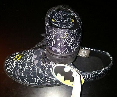 f2f3d541b800 Batman Black Shoes JRS DC Comics Canvas Lace Up Kicks Mens USA Size 8 The  Joker