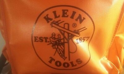 Klein lineman tool kit and orange backpack pouch adjustable wrench set