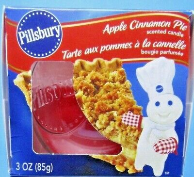 Lot of 2 NIB Pillsbury Doughboy Apple Cinnamon Pie Scented Candles - Awesome!