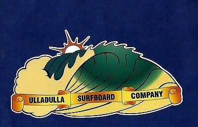 ULLADULLA SURFBOARD COMPANY Retro Sticker Decal 1970s LONGBOARD SURFER SURF