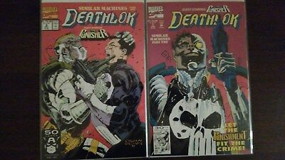Deathlok Similar Machines Part 1 & 2 Complete Marvel Comic Set, # 6 & 7 Punisher