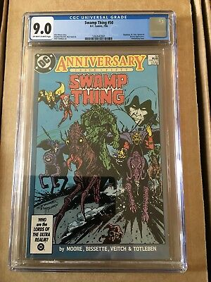 DC Swamp Thing 50 CGC 9.0 OWW Pages Unofficial Justice League Dark App