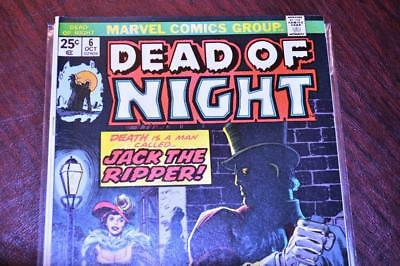 * The DEAD of NIGHT #6 (NM 9.4) Jack the Ripper! Original OWNER Collection *
