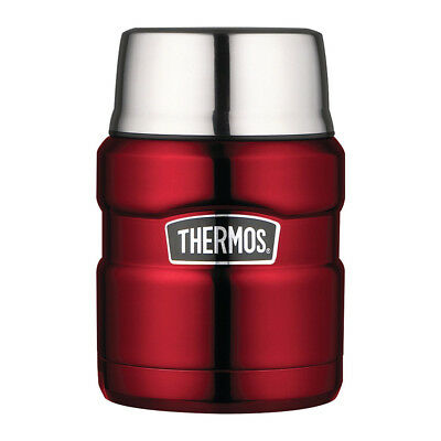 NEW Thermos Stainless Steel Red Vacuum Food Flask 470ml