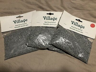 (Lot of 3) Dept 56 Village Real Gray Gravel #52754 Three New Bags - Never Used