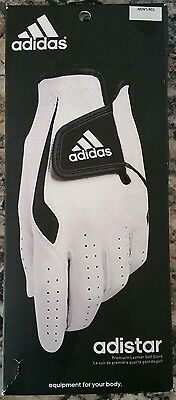 NEW GOLF ADIDAS Adistar Premium Leather Left GLOVE for Right Handed Player Mens