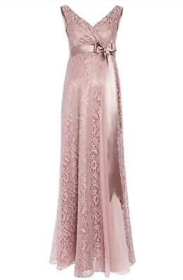 Tiffany Rose Thea Long Gown Blush Rose (Size 1 - 8/10)