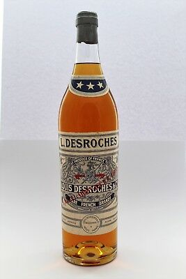 3 Liter Fl. Louis Desroches & Co Rare French Brandy N.A.A.F.I. Stores 60er Jahre