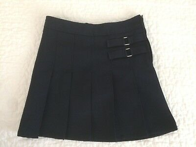 French Toast School Uniform Navy Blue Pleated Skort Skirt Girls Size 7