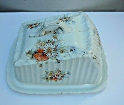 Antique 1890's Grimwade cheeze/butter rectangular cover on a base dish. GC.