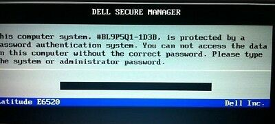 DELL Bios Unlock - Removal Type 595B - D35B - 2A7B - 1D3B - 1F66 - 6FF1