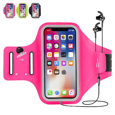 For iPhone X/8/8 Plus/7/6 Sports Armband Running Gym Pouch Arm Bag Holder Case
