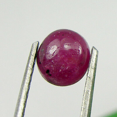 5.7x5.2mm Off Round Cabochon Cut Natural Ruby Gemstone, 0.90 carat - RCb05