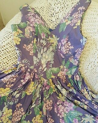 Laura Ashley Vintage Floral Sun Dress And Cropped Jacket  Size 16