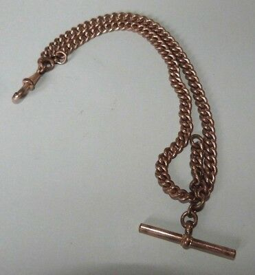 Antique Rose Gold 'plated' Fob Chain Original Vintage