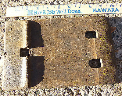 Rare Old Vintage Railroad Rail Base Tie Sole Plate Patd May 23 16  1916 Michigan