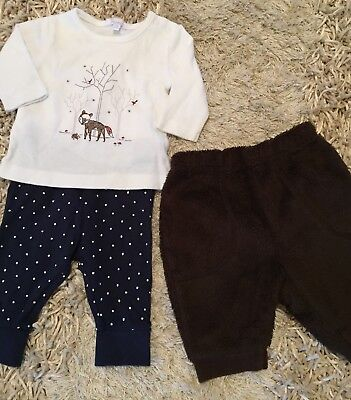 Unisex winter top with two sets of pants 000
