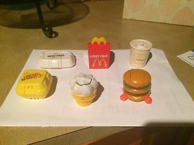 6  x Dino McDonald's Toys Vintage 1990  Changeables Transformer Happy Meal