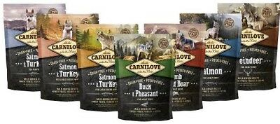 Carnilove 12kg Adult Puppy Grain Free Dog Food Reindeer Duck Lamb Salmon