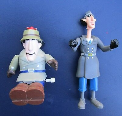 Vintage Toy Figures Inspector Gadget X 2 Wind Up Bandai Burger King Rare