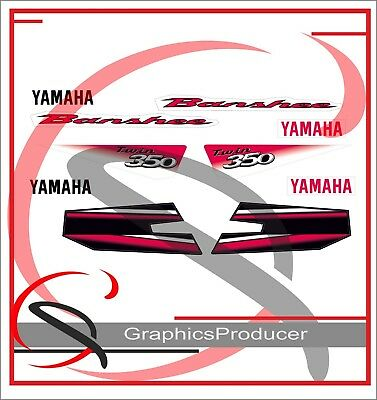 Yamaha Banshee 2003 Red White Replica Decals Graphics Full Set Custom Design