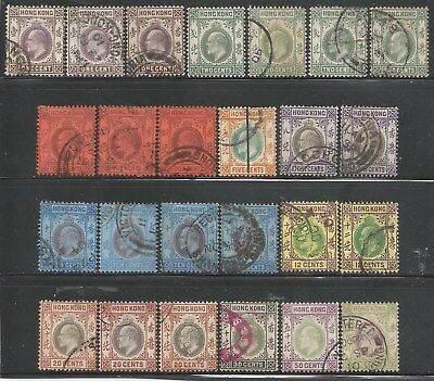 HONG KONG 1903-06 KEVII Collection of 25 to $1  mainly Wmk.CrownCA  $272//£200+