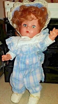 "BND Hard Plastic Toddler Doll from 1940's 14""(36cm)"