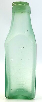 1900s Lowestoft Maconochie frosted glass large bottle