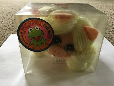 Jim Henson 1984 Miss Piggy Earmuffs Vintage Muppets Plush Figure Set NOS