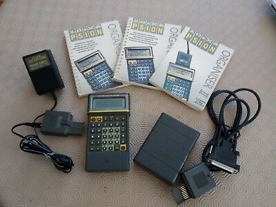 Psion Organiser II LZ (4 line) - LCD PDA + Manuals, Power Supply & Comms Link