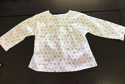 Obaibi Long Sleeve A Line Blouse Polka Dot Baby Girls Size 6 Months
