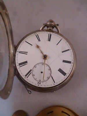 Solid Silver Pocket Watch Hallmarked Chester 1903-4 for spares (2)