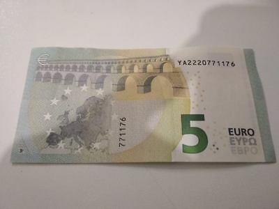 Greece Banknote 5 euro ario Draghi YA 2013 very good condition  as seen on scan