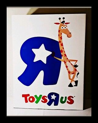 Exclusive Toys R Us Store Display Huge Cardbox Banner Geoffrey yellow