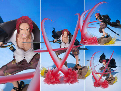 Collections Anime Figure Toy One Piece Shanks Battle Ver. Figurine Statues 17cm