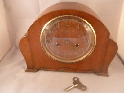 Vintage Smiths Enfield Chiming mantel clock Art Deco Cloud Shape for restoration