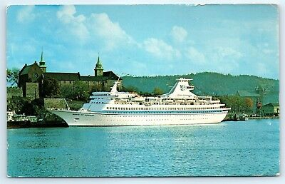 Postcard 1973 Royal Caribbean Cruise Line M/S Song Of Norway Vtg Photo View C2