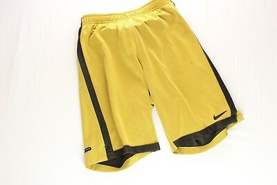 Nike Wende Shorts Basketball Gr.M Gelb Schwarz  Streetwear Hip Hop Black& Yellow