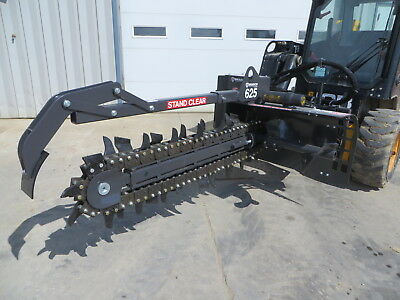 "Bradco 625 48"" x 6"" Skid Steer Loader Trencher Attachment -14- 22GPM"