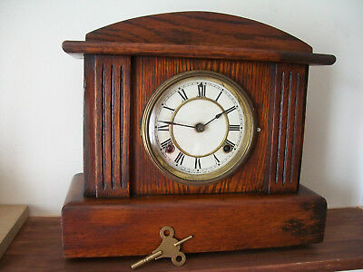 Antique mantle clock made in USA by Waterbury